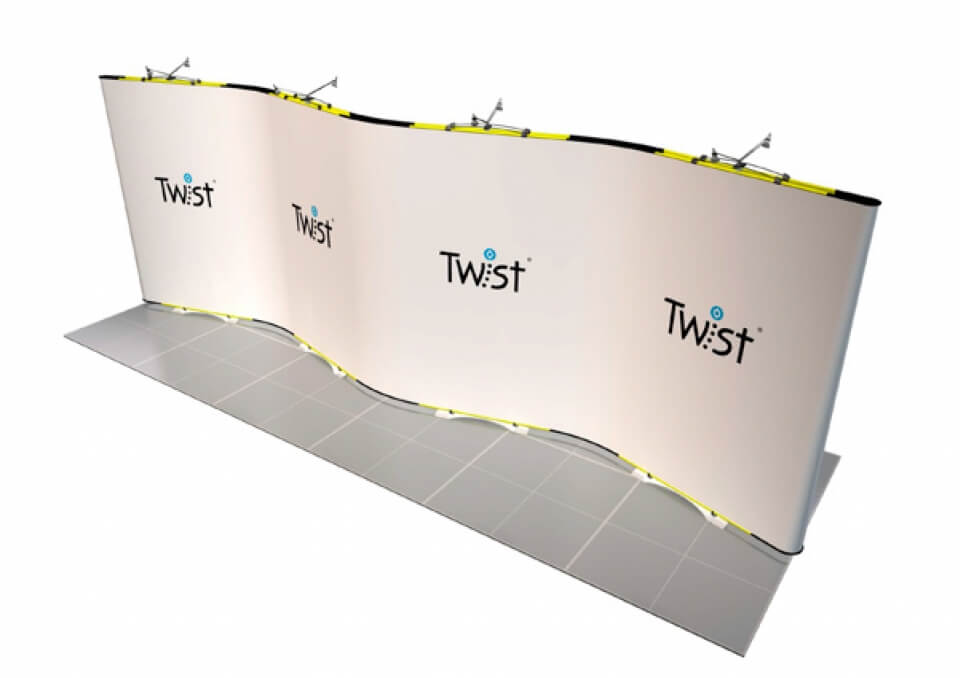 Výstavní stánek Třebíč 6x2 m, oboustranný